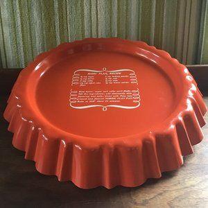 Vintage Orange Nordic Flan Pan
